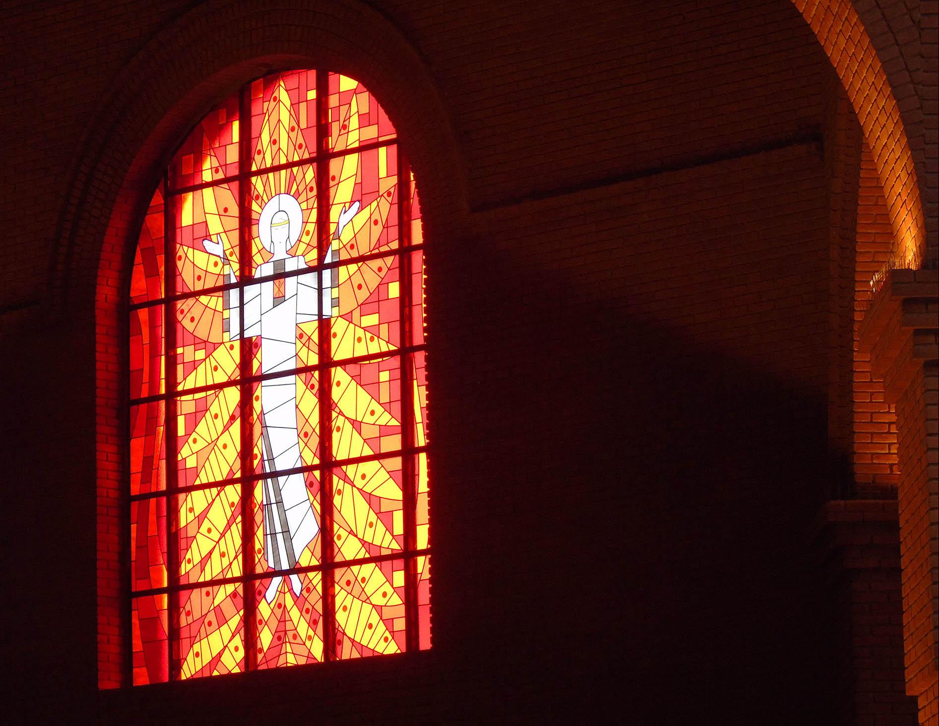 Santuario de Aparecida Serafim vermelho Baldaquino 2016